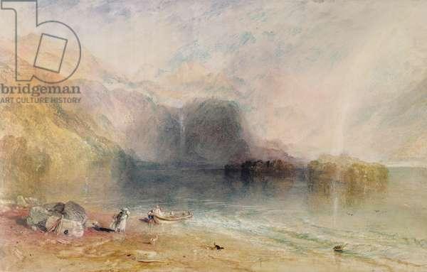 Keswick Lake, Cumberland, 1835 (watercolour)