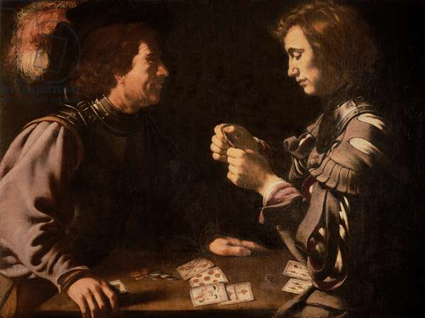 The Gamblers (oil on canvas)