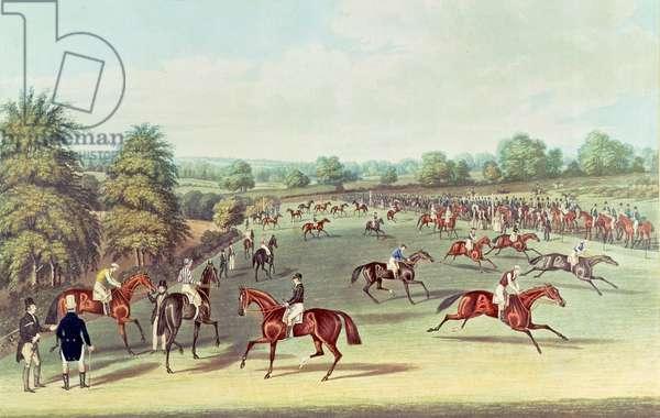 Epsom: preparing to start, 1830
