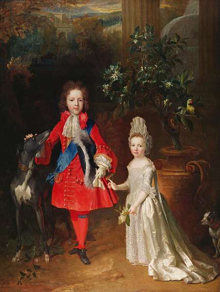 Prince James Francis Edward Stuart and Princess Maria Theresa Stuart, 1695 (oil on canvas)