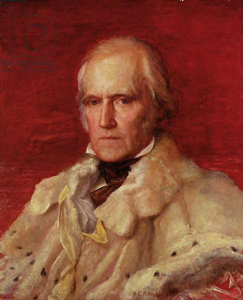 Portrait of Stratford Canning (1786-1880), Viscount Stratford de Redcliffe (1856-7) (oil on canvas)