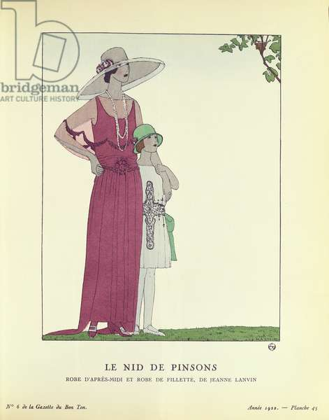 Le Nid de Pinsons, from 'Le Gazette du Bon Ton' 1922 (colour litho)