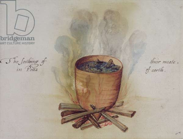Cooking in a Pot (w/c on paper)