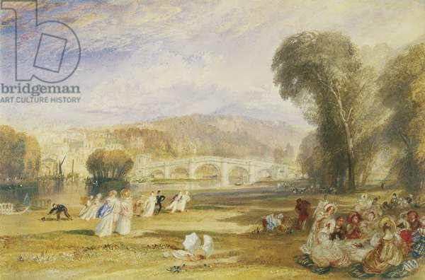 Richmond Hill and Bridge, Surrey, c.1831 (w/c on paper)