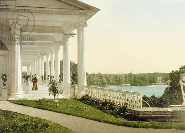 Vintage postcard of the Terrace at Tsarskoye Selo, 1890s (photo)