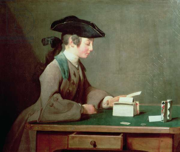 The House of Cards, c.1736-37 (oil on canvas)