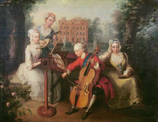 Frederick, Prince of Wales and his Sisters, 1733 (oil on canvas)