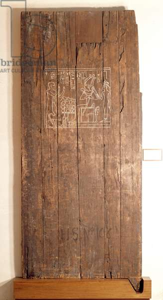Wooden door from the tomb of Khonsuhotep New Kingdom, c.1285 BC (wood)