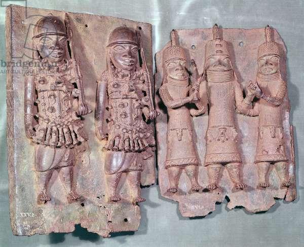 Two Benin Plaques, Nigeria (brass)