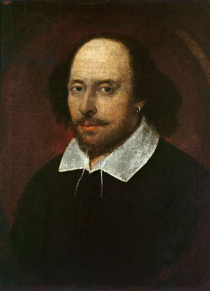 Portrait of William Shakespeare (1564-1616) c.1610 (oil on canvas)