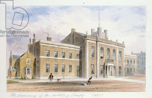 Royal Artillery House, Finsbury Square, 1851 (w/c on paper)