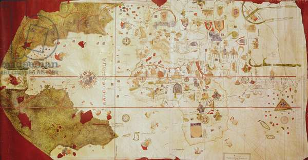 Mappa Mundi, 1502 (gouache and pen & ink on paper)