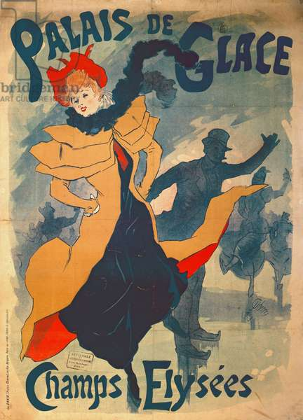 Poster advertising the Palais de Glace on the Champs Elysees (colour litho)