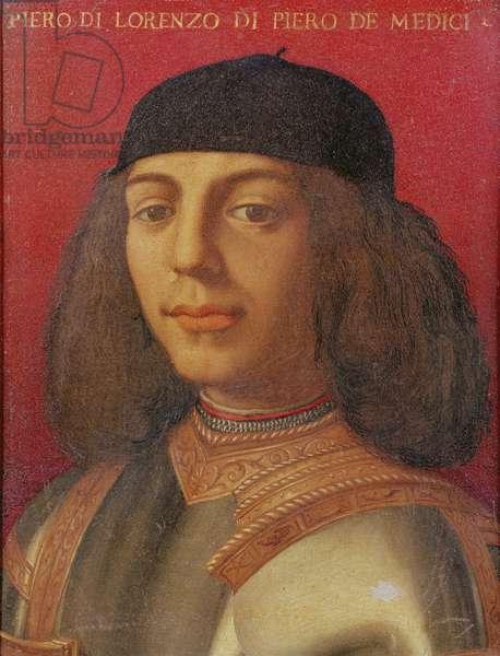 Portrait of Piero di Lorenzo de Medici (oil on panel)