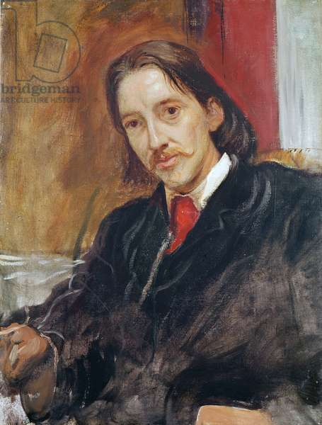 Portrait of Robert Louis Stevenson (1850-1894) 1886 (oil on canvas)