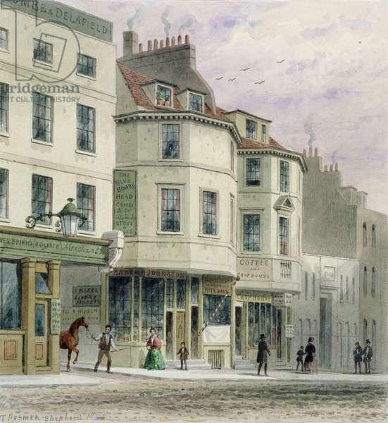 The Boars Head Inn, King Street, Westminster, 1858 (w/c on paper)