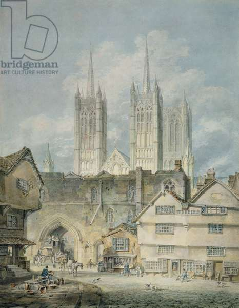 Cathedral church at Lincoln, 1795 (watercolour)