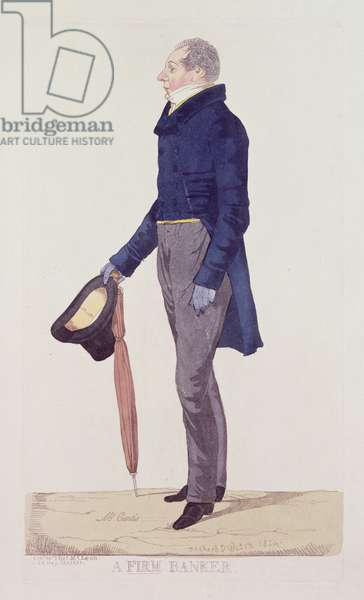 A Firm Banker, 1824 (coloured etching)
