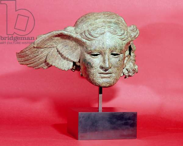 Head of Hypnos, or Sleep, copy of a Hellenistic original, 1st-2nd century AD (bronze)