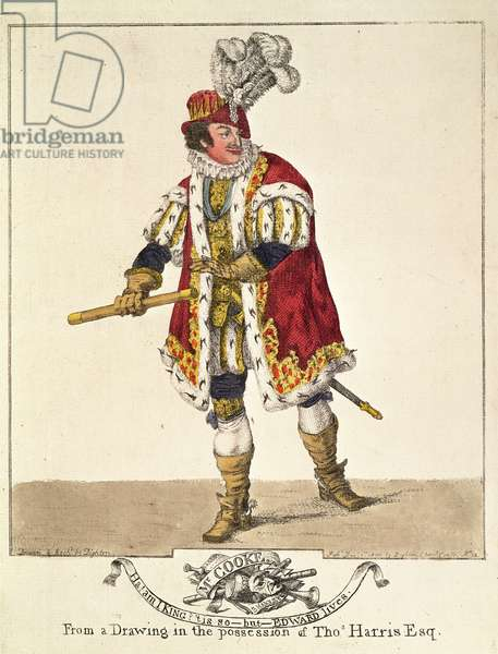 George Frederick Cooke as Richard III, Act IV, Scene II, 1800 (hand coloured etching)