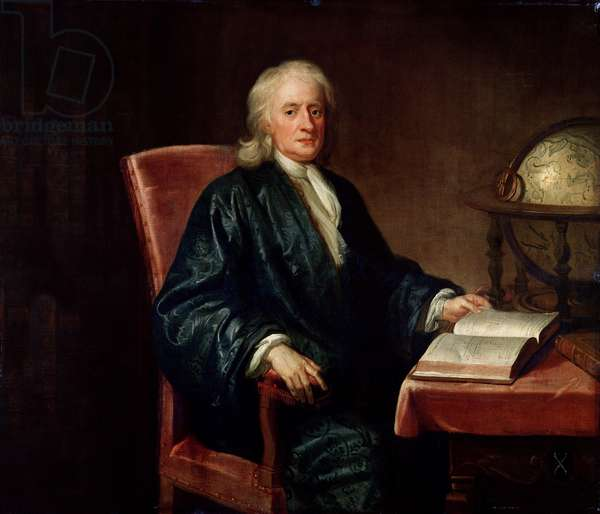 Portrait of Isaac Newton (1642-1727), c.1726 (oil on canvas)
