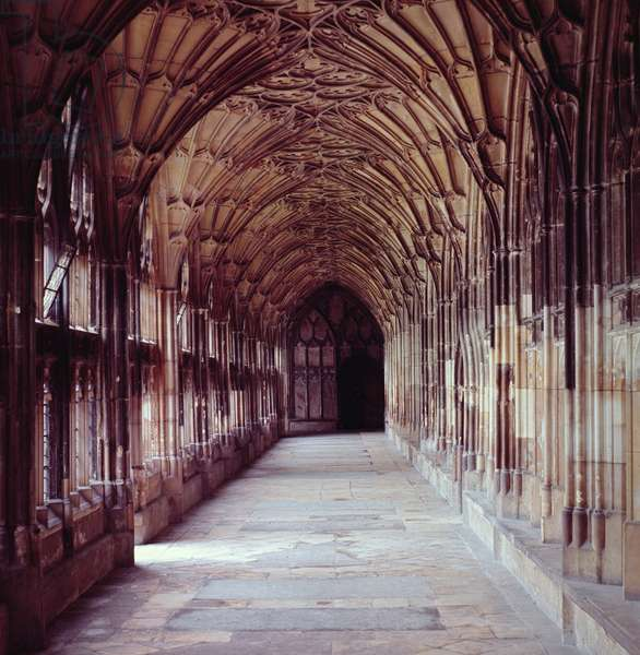 View of the Cloisters, c.1355 (photo)