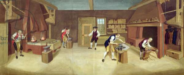 The Forge, c.1750 (w/c on paper)