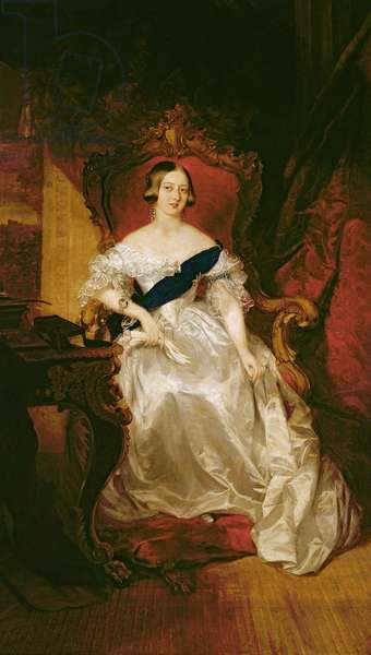 Portrait of Queen Victoria (oil on canvas)