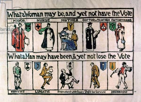 Suffragette Handbill, c.1911 (litho)