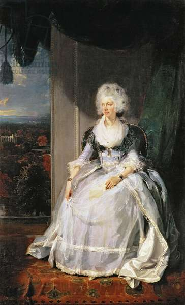Queen Charlotte, 1789-90, wife of George III (oil on canvas)
