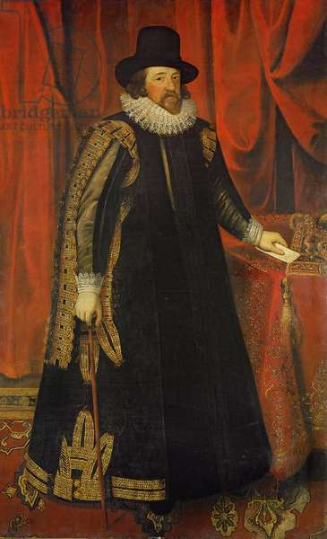 Sir Francis Bacon (1561-1626) Viscount of St. Albans (oil on canvas)