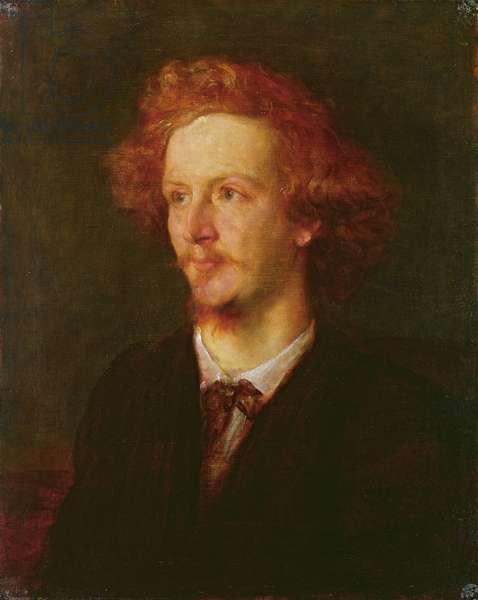 Portrait of Algernon Charles Swinburne (1837-1909) 1867 (oil on canvas)
