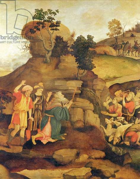 Moses brings forth water out of the rock, c.1500 (detail)