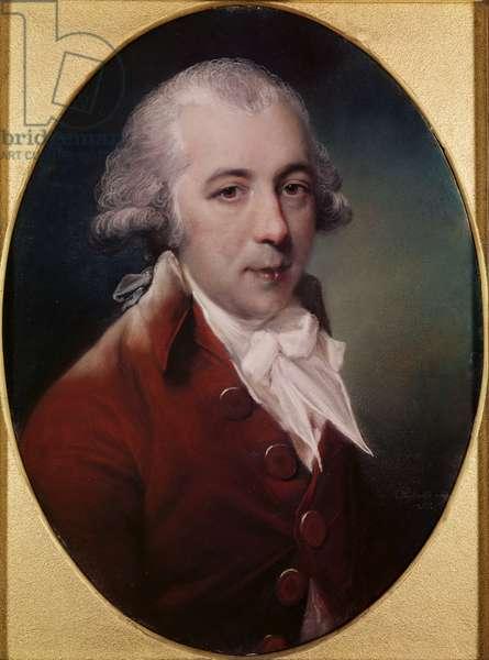Portrait of Richard Brinsley Sheridan (1751-1816) 1788 (pastel on grey paper)