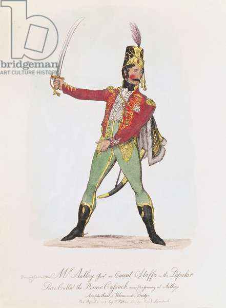 Philip Astley as Count Staffs in the Popular Piece called 'The Brave Cossack', 1812