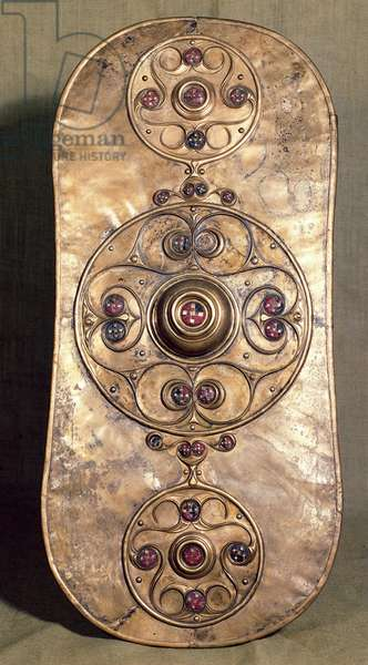 The Battersea Shield, c.350-50 BC (bronze with red glass)