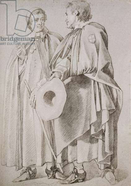 Two Poor Knights of Windsor (pencil on paper)