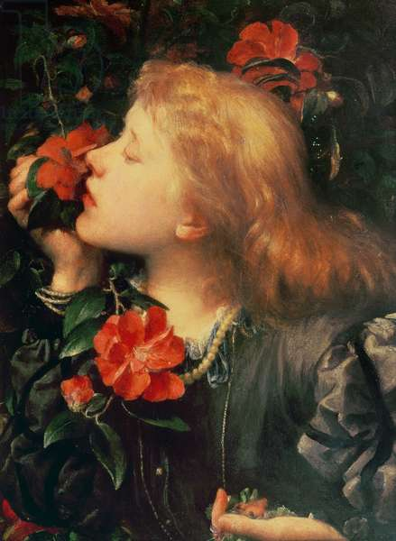Portrait of Dame Ellen Terry (1847-1928) c.1864 (oil on strawboard)