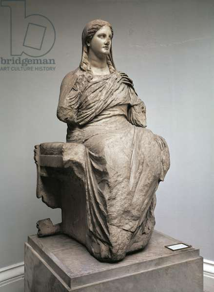 Demeter, statue from Knidos, Asia Minor, c.350BC (marble)