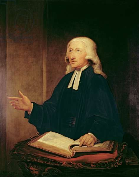 Portrait of John Wesley (1703-1791) 1788 (oil on canvas)