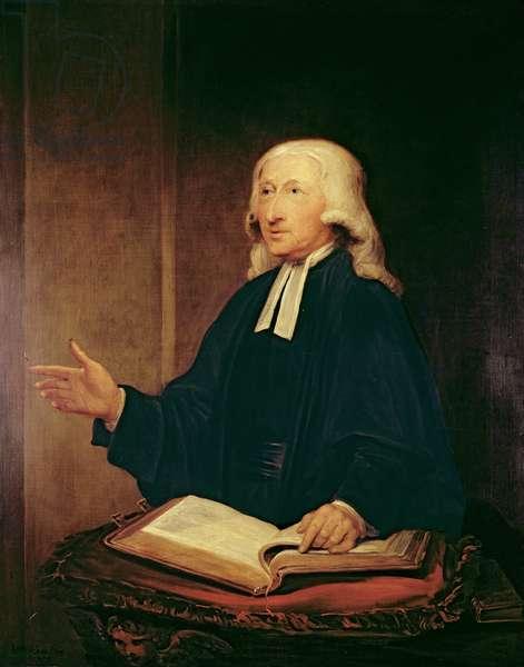 Portrait of John Wesley (1703-1791) 1788 (oil on canvas)