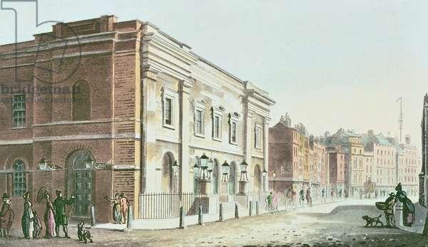 New Drury Lane Theatre, 1812 (colour litho)