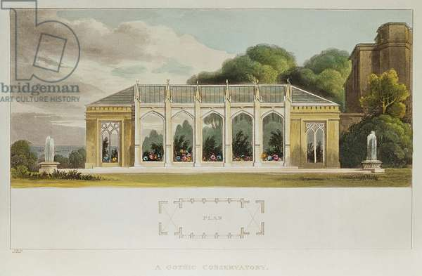 Gothic Conservatory, 1832 (colour engraving)