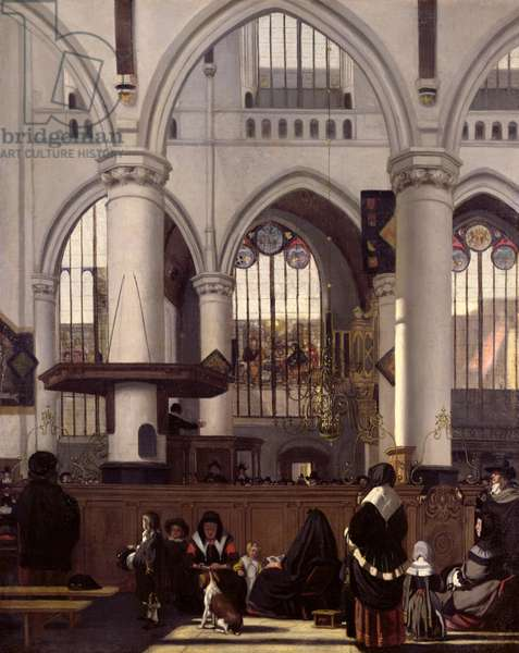 The Interior of Oude Kerk, Amsterdam, c.1660 (oil on canvas)