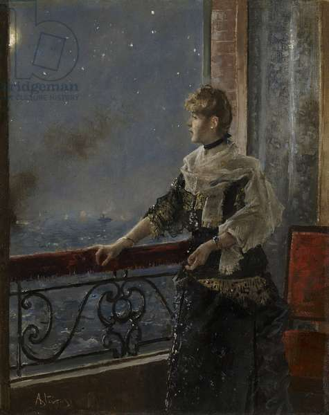 Moonlight (Au clair de la lune), c.1885 (oil on panel)