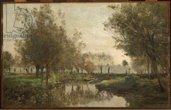 The Creek, 1863 (oil on panel)