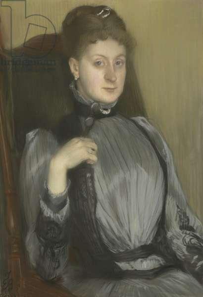 Portrait of a woman, 1890 (pastel on prepared canvas)