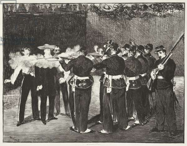 The Execution of Emperor Maximilian, 1868, printed 1884 (litho)