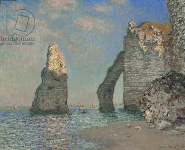 The Cliffs at Etretat, 1885 (oil on canvas)