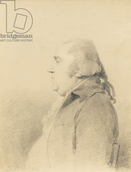 Portrait of George Stubbs, 22nd February 1794 (graphite on cream wove paper)